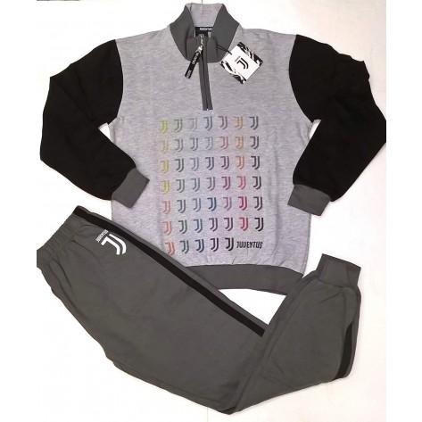 pigiama juventus grigio ,melange