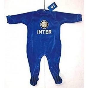 tutina pagliaccetto neonato inter blu