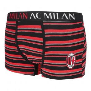 A.C MILAN Boxer Abbigliamento Intimo Prodotto Ufficiale Ragazzo Uomo (rigato)