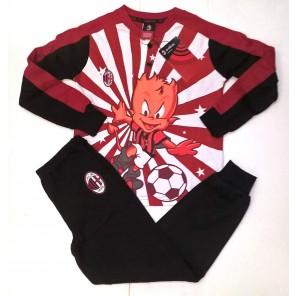 pigiama milan rosso