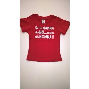 maglietta SE LA MAMMA DICE NO...CHIEDILO ALLA NONNA!