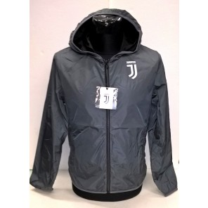 Juventus K-Way Juve Prodotto Ufficiale Nuovo Logo Uomo Adulto Giacca Antivento Windstopper (Grigio)