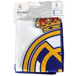 Bandiera Ufficiale Real Madrid C.F. 100% Poliestere 150 x 100 cm