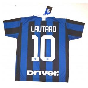 Completo LAUTARO Inter Prodotto Ufficiale F.C Internazionale 2019/2020 Bambino Uomo Maglia + Pantaloncini Pantaloncino Home 10 Lautaro Martinez