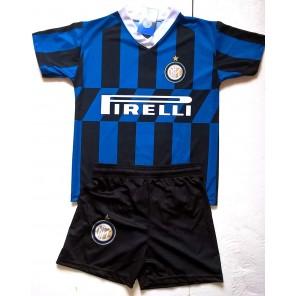 Completo LUKAKU 9 Inter Prodotto Ufficiale F.C Internazionale 2019/2020 Bambino Uomo Maglia + Pantaloncini Romelu Lukaku + Polsino Forza Inter Omaggio