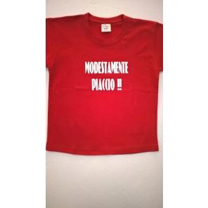 maglietta MODESTAMENTE PIACCIO!